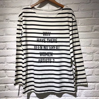 woman tshirt top 2018 spring long sleeve tshirt fashion striped cotton tshirt