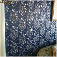 beibehang Damask papel de parede 3D wallpaper For Walls vinyl PVC glitter wall paper for Living Room wall paper papel wall