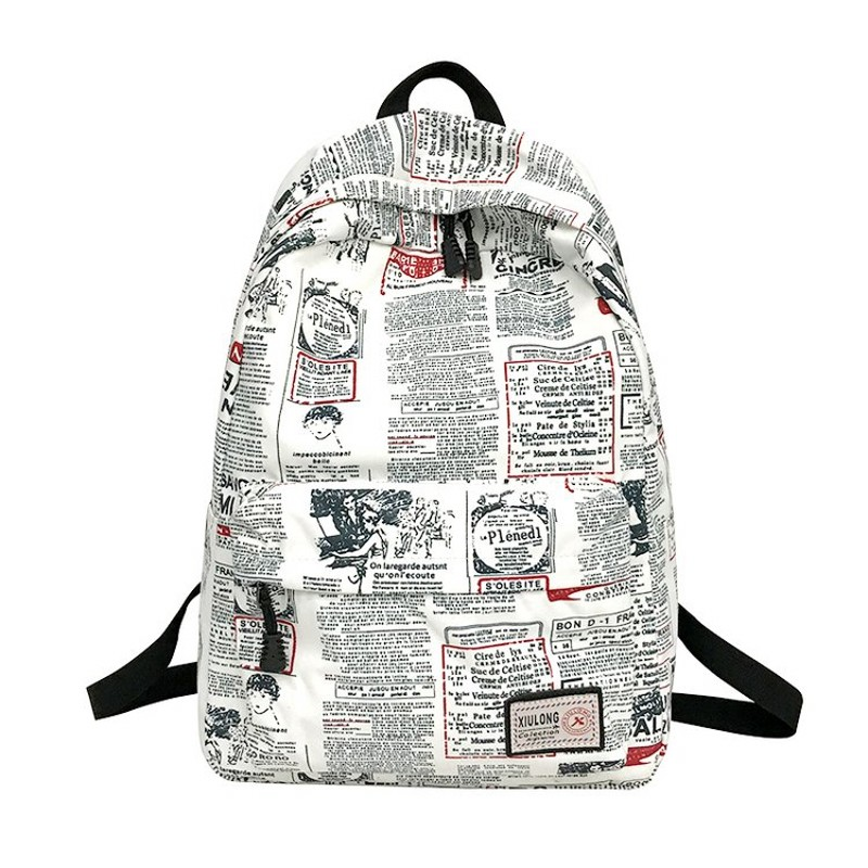 WSY Unique Printing Backpack Floral Bookbags Waterproof Canvas Backpack Schoolbag For Girls Rucksack Bag 151
