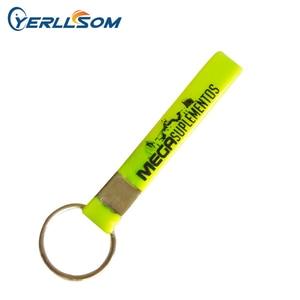 Image 1 - YERLLSOM 500 개/몫 무료 배송 사용자 정의 스크린 인쇄 로고 고무 실리콘 키 체인 선물 Y060603