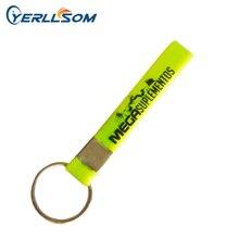Yerllsom 500 Stks/partij Gratis Verzending Aangepaste Zeefdruk Logo Rubber Siliconen Sleutelhangers Voor Geschenken Y060603