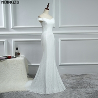 Real Simple Mermaid Lace Wedding Dresses 2016 White Ivory Sexy Vestido De Noiva