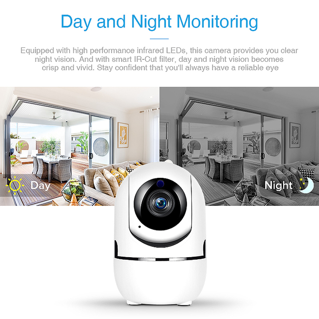 FREDI 1080P Cloud IP Camera Home Security Surveillance Camera Auto Tracking Network WiFi Camera Wireless CCTV Camera YCC365 4