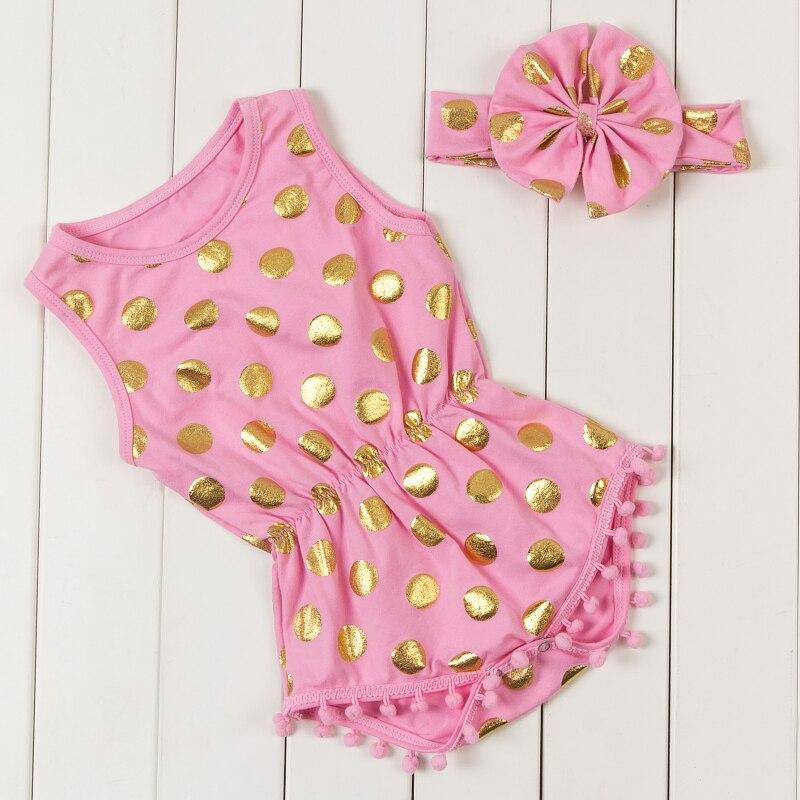 dfb1c84b0b6 2018 Baby Girl Rompers New Fashion Kids Polka dot Print Romper Cute Toddler  Children Princess Jumpsuit KP-POMP05