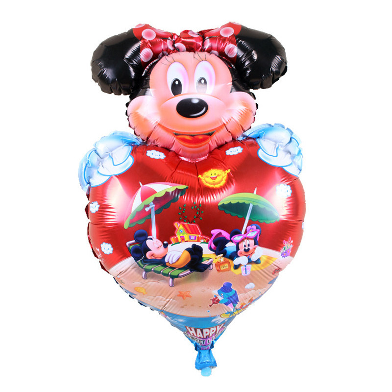 5pc Mickey Minnie mouse Cartoon Foil Balloon Kids Birthday Party Decoration foil balloon baloes party supplies
