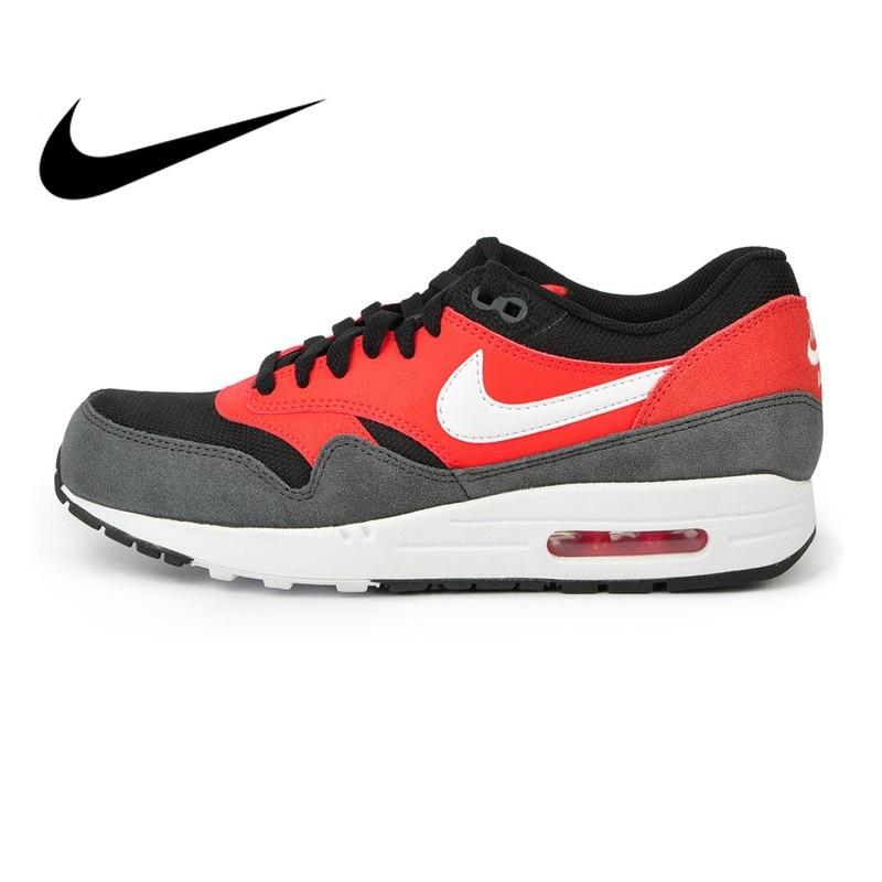 Officiel D'origine NIKE AIR MAX 1 ESSENTIEL Hommes de chaussures de course Sneakers Nike Chaussures Hommes Respirant Rembourrage confortable 537383