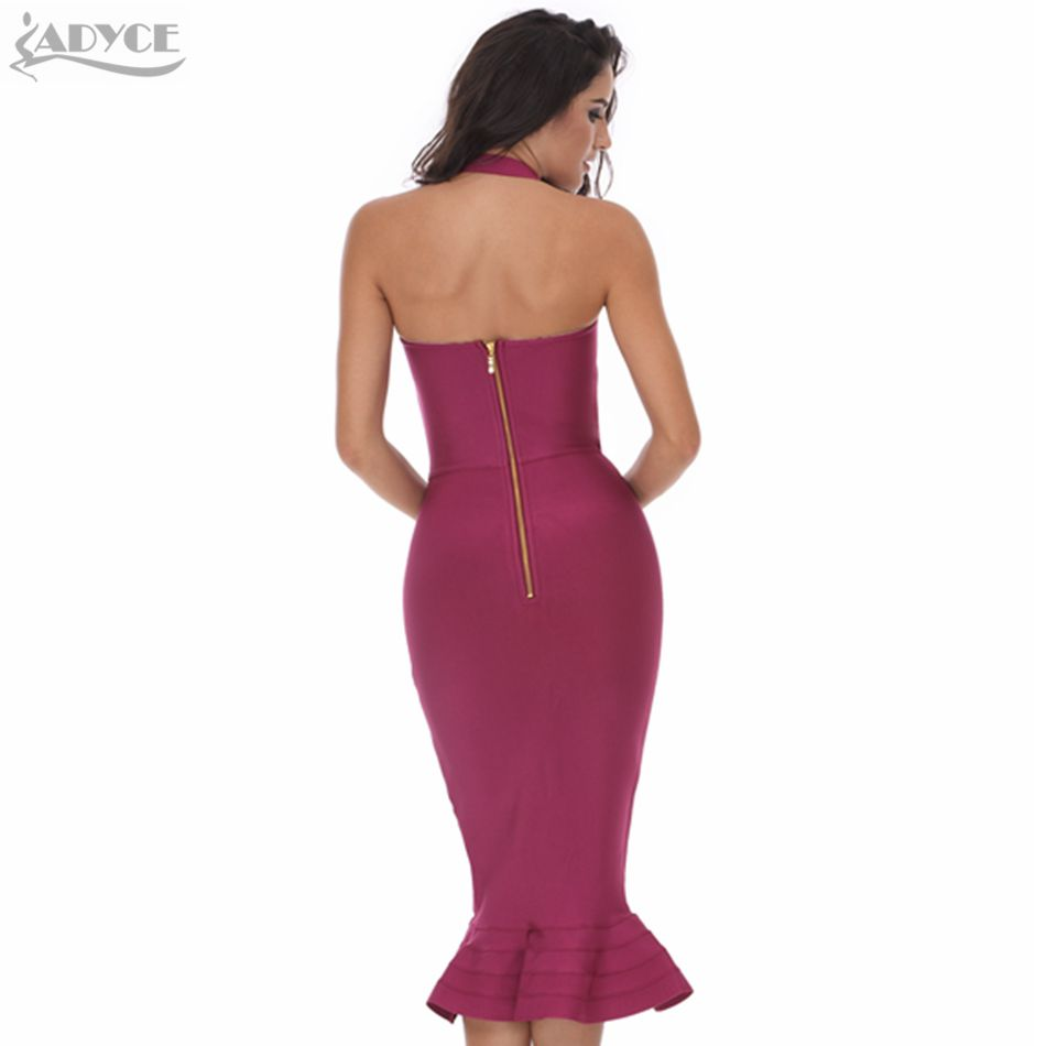 2018 New Bandage Dress Sexy Women Party Dress Khaki Wine Red Bodycon ...