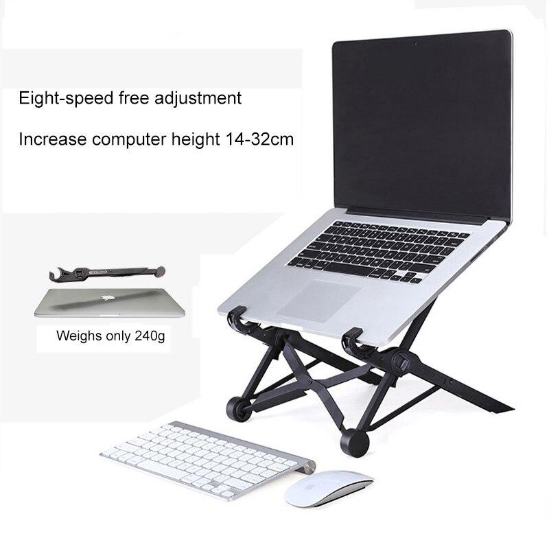 Ângulo Lapdesk Dobrável Altura ajustável Suporte de Laptop Para Macbook Lenovo Dell Asus Notebook Portátil Titular Suporte De Arrefecimento