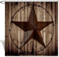 CafePress Западный Техас Звезда Дизайн кошмар перед Рождество череп Водонепроницаемый Ткань душ Шторы, 72x60 дюймов C414