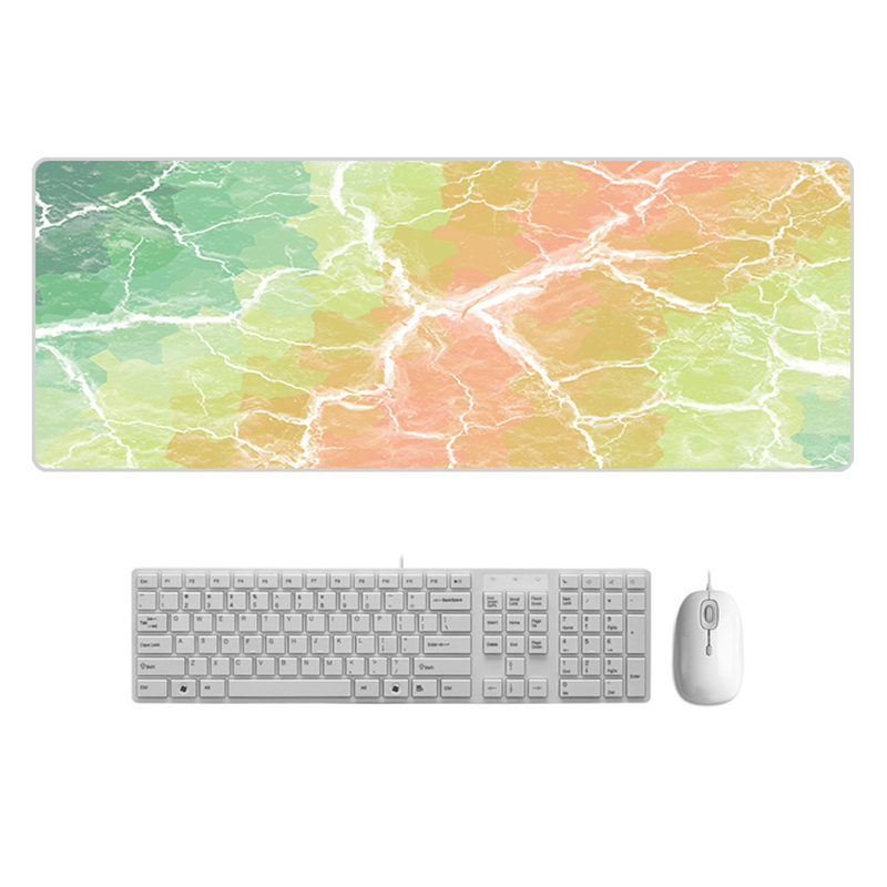 Large  Desk Pad Beautiful Soft Natural Rubber Pink Gold White marble Series Mice Pad Square Gaming Mouse Pad with Locking Edge (21)