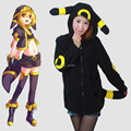 Japan Anime Pokemon women hoodie Umbreon Noctali Nachtara sweatshirts jacket women sweatshirt hoodie with ears tail eyes Adults