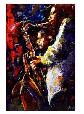 Abstrakte Kunst Leinwand 100% handgemalte messer Öl panting jazz moderne zeitgenössische