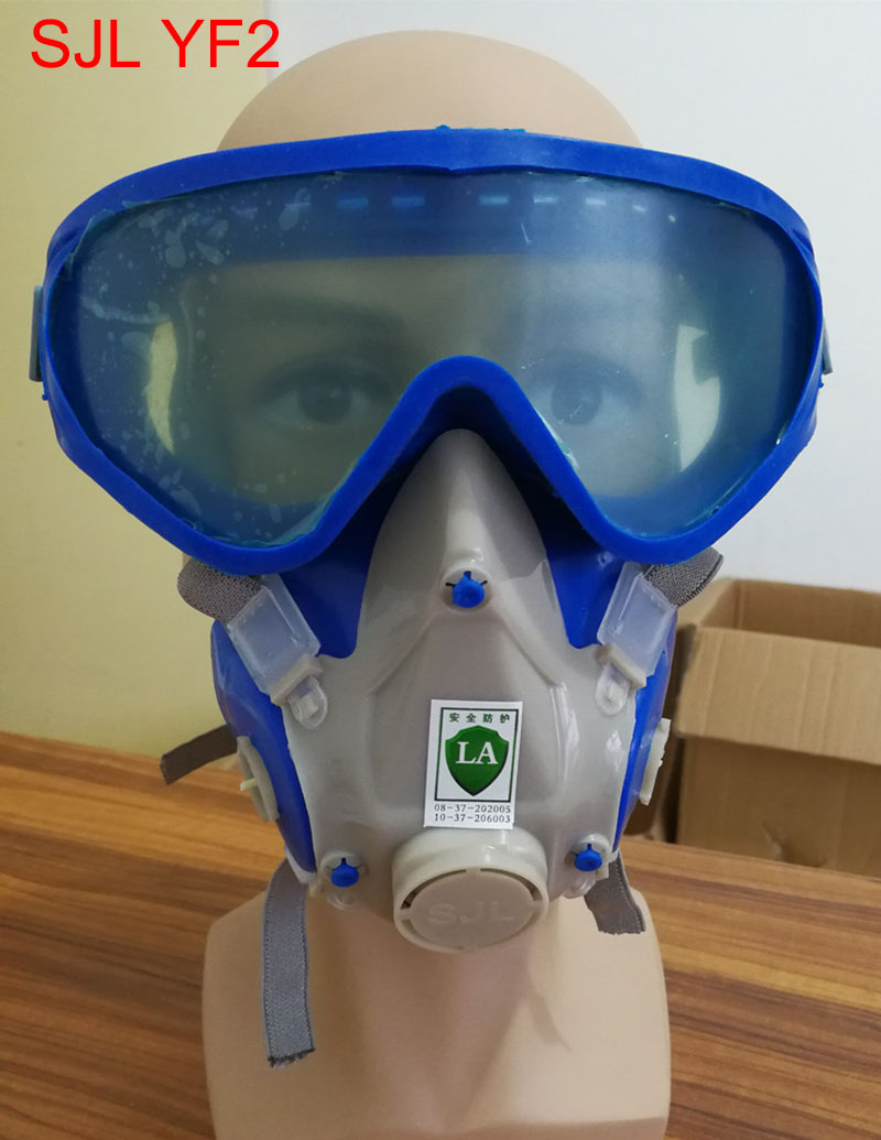 SJL YF2 respirator mask Goggles One type respirator gas mask Painting painting face mask face mask SJL/3M filter windproof anti dust mask eyes protection goggles filter protective respirator painting spraying face mask breathable mouth mask
