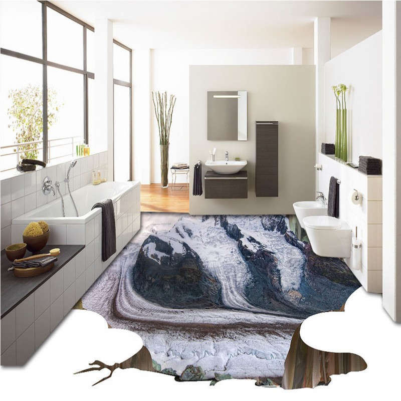 Free shipping 3d floor home decoration outdoor flooring mountains background wall self-adhesive mural baby room wallpaper free shipping retro female star mural background wall bathroom studio home decoration artistic studio bedroom wallpaper