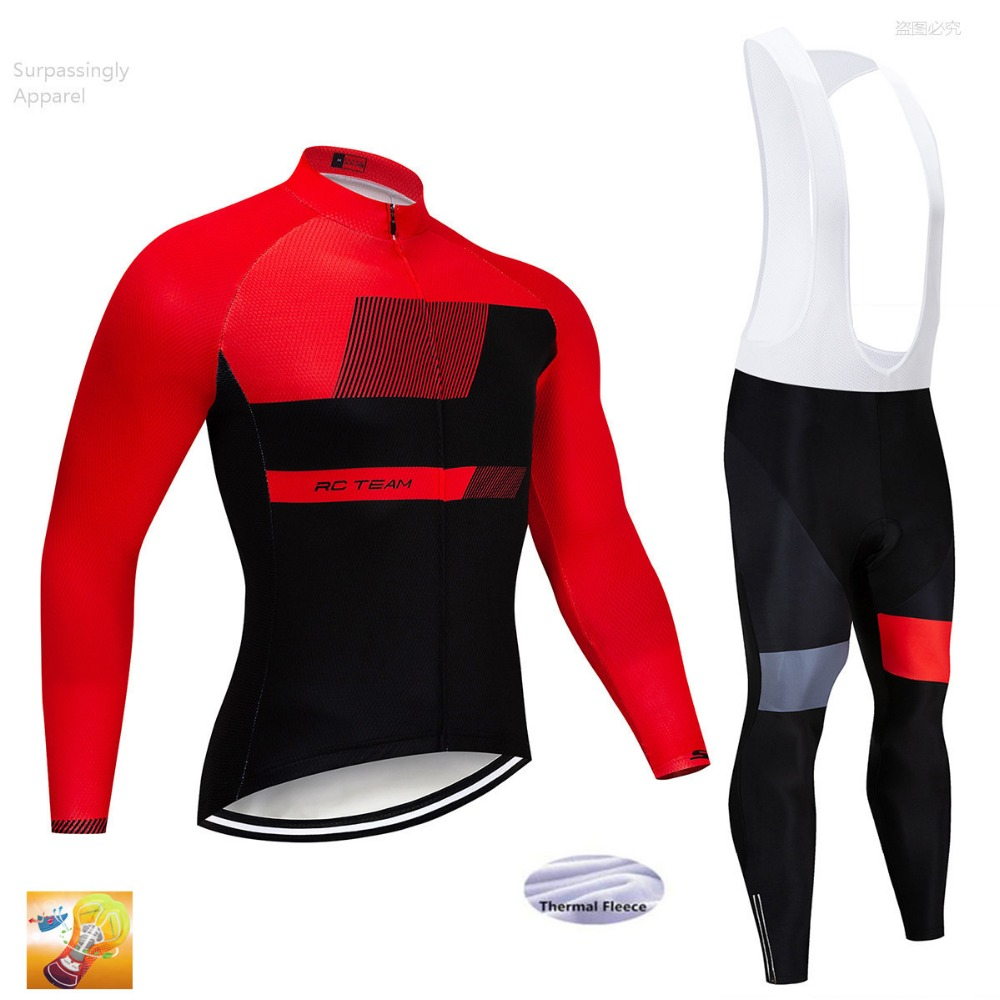Outdoor Racing Team Sports Bicycle Cycling Clothing Pant Suit Winter Sets Men Bike Set Cycling Jersey Long MTB 16d GEL Padded