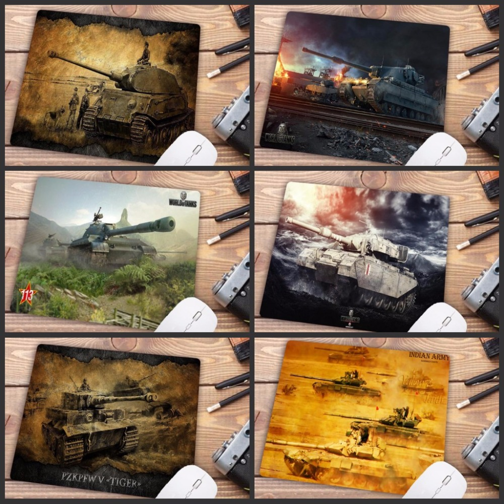 Big Promotion World Of Tank Mouse Pad Gamer Play Mats Small SIZE Rubber Game Gaming Mouse Pad 18X22CM Mouse Pad