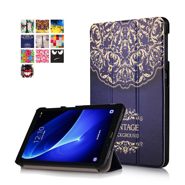 T580 T585 Case for samsung galaxy tab A 10.1 SM-T580 SM-T585 10.1 tablet PU leather print case + screen protector as gift