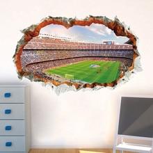 3D Gridiron in the Broken Wall Sticker