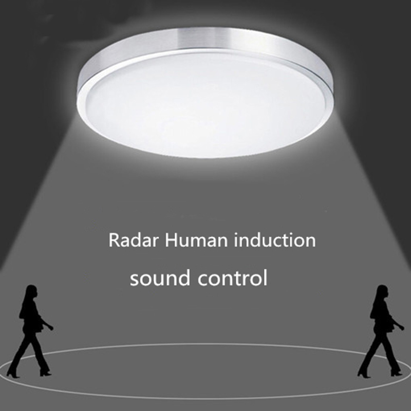 Led Ceiling Lights lamp Radar Induction/Human Sensor/Sound control  Lustre Luminaire Plafonnier For Living Room Home Lighting white black ceiling lights led lustre de plafond living bedroom ac90 265v modern luminaire plafonnier ceiling lamp home decors