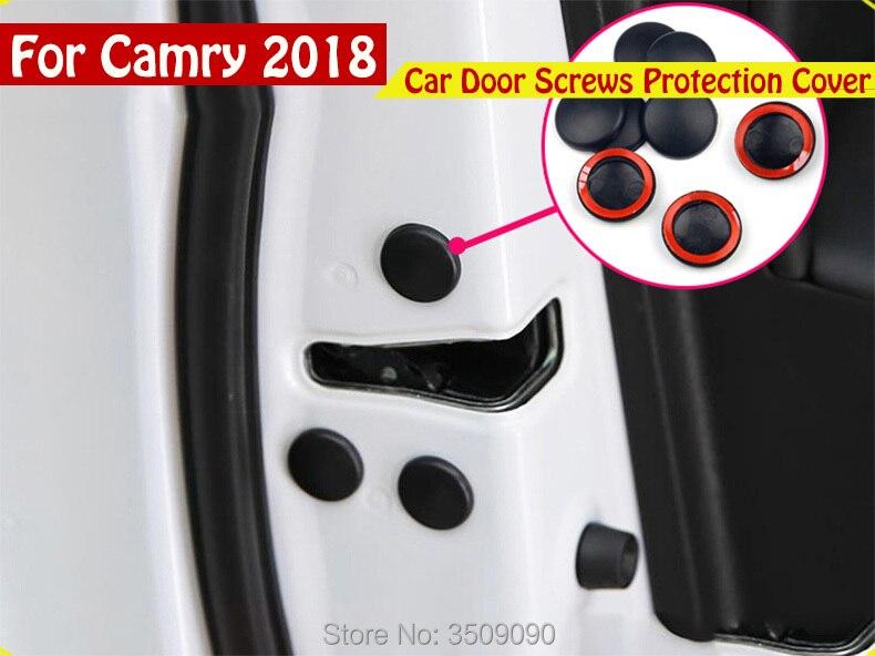 Стайлинга автомобилей двери автомобиля винты Защитная крышка Caps стайлинга автомобилей 12 шт./компл. для Toyota Camry 2017 2018