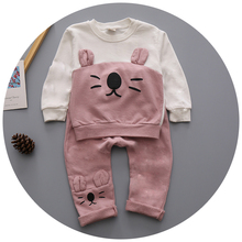 Retail 2016 Fashion Wear New Kids Spring Autumn Child Suit Baby Boy Cotton Fabric Sport Suit korean fashion clothing