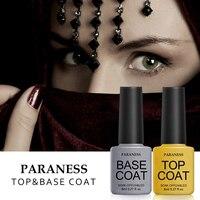Paraness 2017 Newest 8ml Lucky Gel Varnish Long Lasting Soak Off Gel Nail Top Coat Base Coat Foundation for UV Gel Polish Art