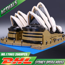 2989pcs Presale 2016 LEPIN 17003 Creator Sydney Opera House Model Building Kits Mini Figures Blocks Bricks Toys with Legeod