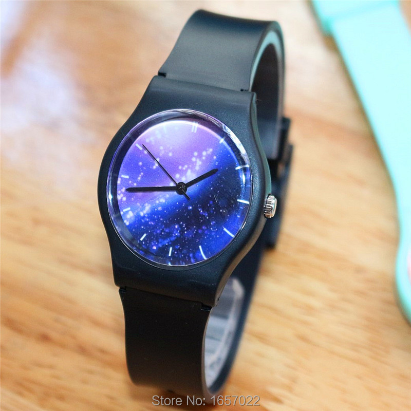 Luxury Brand Ladies New Colorful Shining Star Sky Watch Face Women Promotion Sports Gift Wristwatches Girlfriend Watch