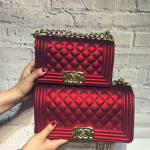 da477c154039 Golden Chain Locks Crossbody Bags for Female Luxury Handbags Women Jelly  Bags Designer Clutch Tote Big
