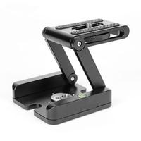 Aluminum Foldable Z Style Desktop Stand Holder Tripod Flex Pan & Tilt Ball Head for DSLR Camera Photo Studio