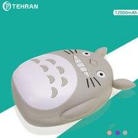 12000 mAh בנק כוח לאייפון 8 Samsung הערה הקריקטורה Totoro 8 סוללה חיצונית ניידת מתנה לחג המולד עם טוב חבילה