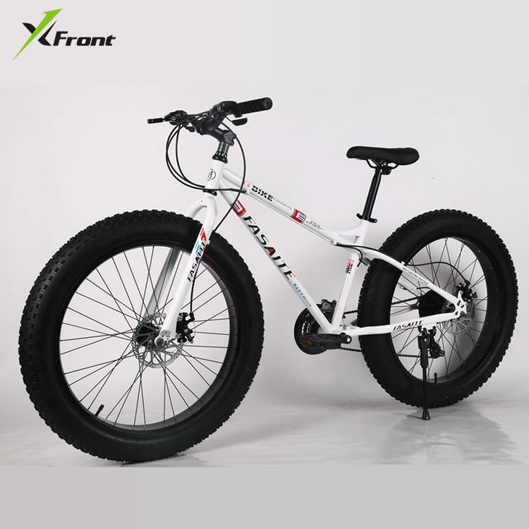 New X-Front Brand Carbon Steel Frame Snowmobile 4.0 Fat Wide Tire 7/21/24/27 Speed Downhill Mountain Beach Bike MTB Bicycle
