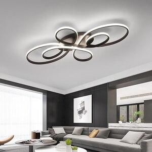 Image 2 - NEO Gleam yeni sıcak RC beyaz/kahve Modern Led tavan ışıkları oturma odası yatak odası çalışma odası için kısılabilir tavan lamba armatürleri