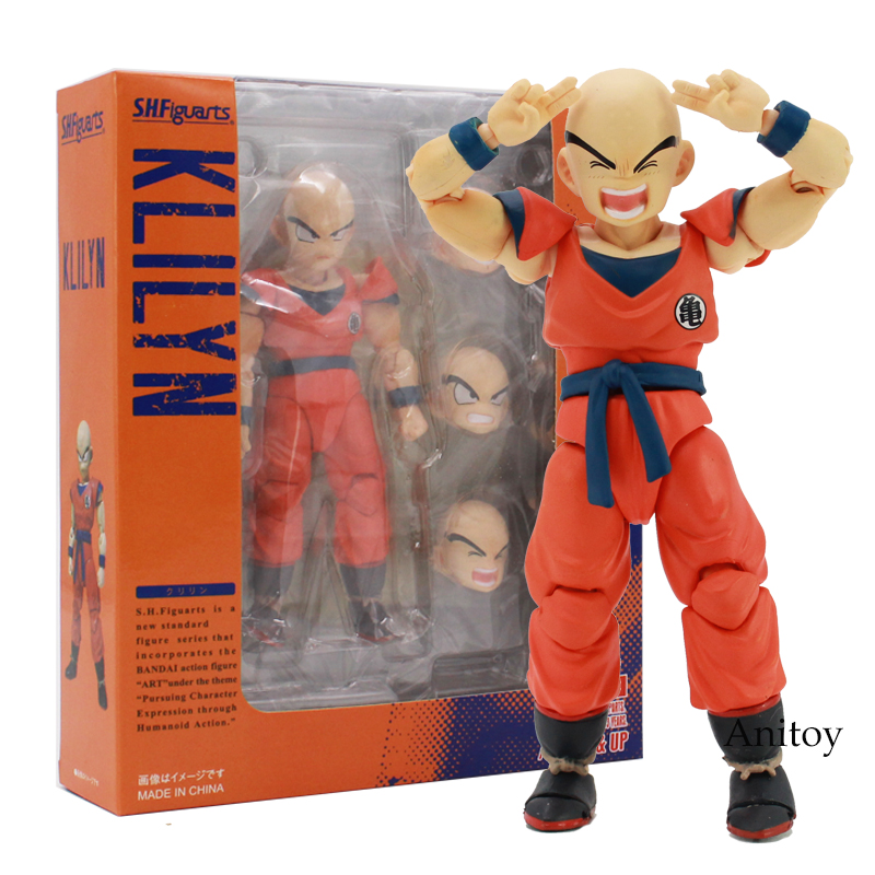 SHF S.H.Figuarts Dragon Ball Z Klilyn Krillin PVC Action Figure Collectible Model Toy 12cm anime dragon ball super saiyan 3 son gokou pvc action figure collectible model toy 18cm kt2841