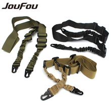 HOT JouFou Nylon Multi-function Adjustable Two Point Tactical Rifle Sling Hunting Gun Strap Outdoor Airsoft Mount Bungee System