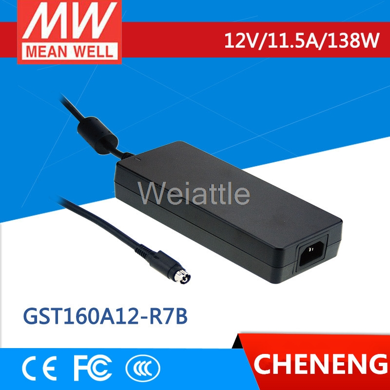 MEAN WELL original GST160A12-R7B 12V 11.5A meanwell GST160A 12V 138W AC-DC High Reliability Industrial Adaptor selling hot mean well gst280a12 c6p 12v 21a meanwell gst280a 12v 252w ac dc high reliability industrial adaptor