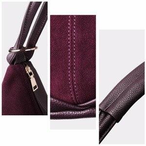 Image 5 - Sacs à Main en cuir suédé pour femmes, Sac à bandoulière Fashion Hobo, Sac de loisirs Shopping décontracté