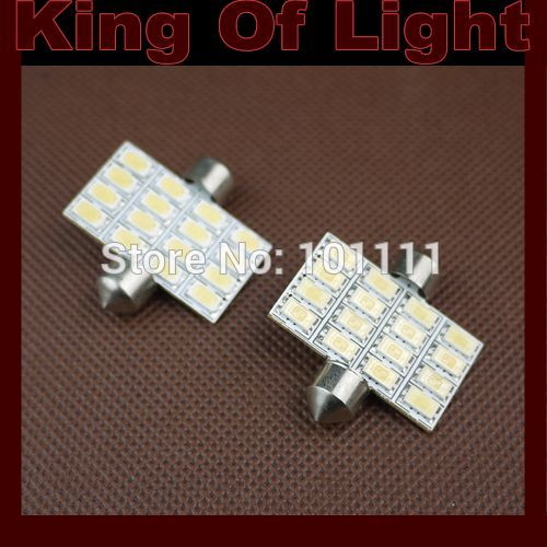10x High quality car led stying lighting C5W 16SMD Festoon 36mm 16 LEDS SMD 5630 Free shipping