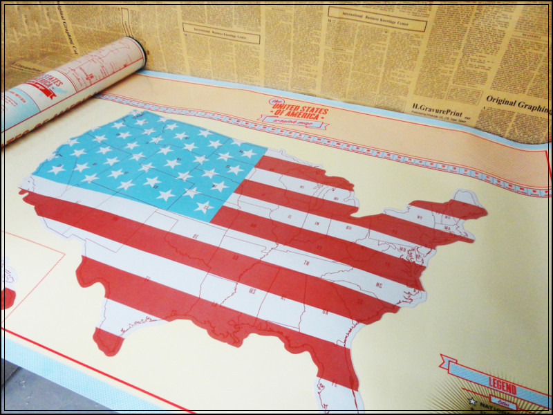 American Scratch Map Of USA Country Map Packed in Card Scratch off ...