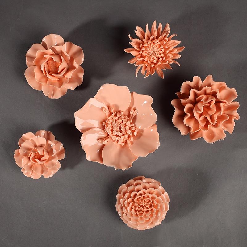 Pioen Chrysanthemum Decoratieve Muur Bloem Dishe Porselein - Huisdecoratie