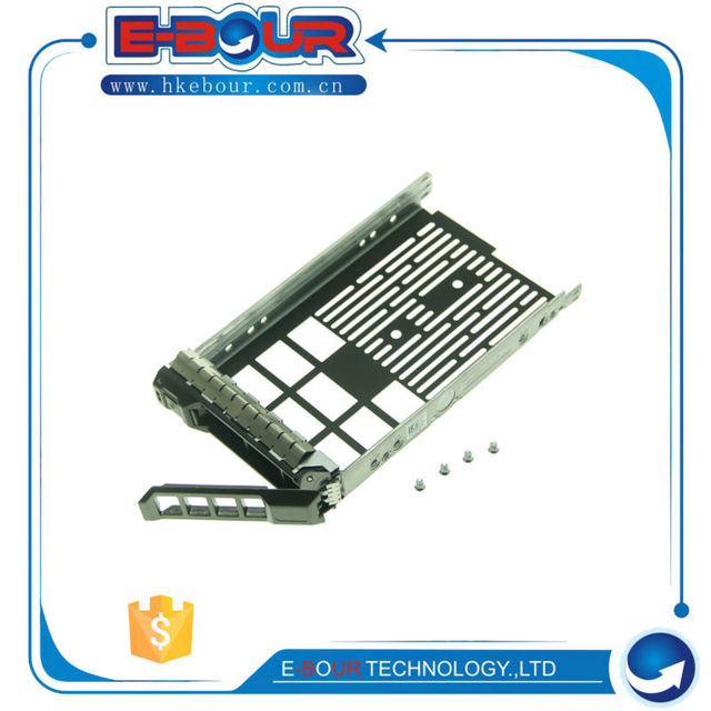 US $13 4 10% OFF|3 5'' SAS SATA Hard Drive Tray Caddy F238F for Dell  PowerEdge R710 R610 R510 R410 R310 Server Bracket 0F238F-in Harddisk & Boxs  from
