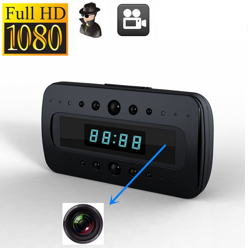 mini Camera Full HD 1080P CAM Table Clock IR Night Vision Motion Detection DV Remote Mini Security Cam