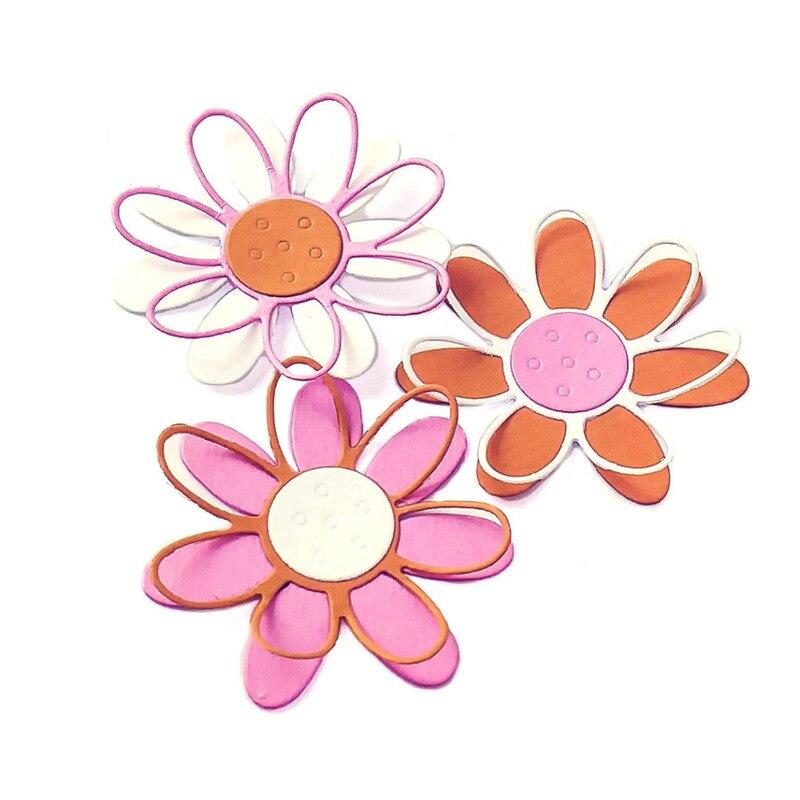 Eastshape Daisy Metal Cutting Dies Stencil for Dies Scrapbooking Album Embossing Flowers Die Cut Card Making 2019 New Arrival in Cutting Dies from Home Garden