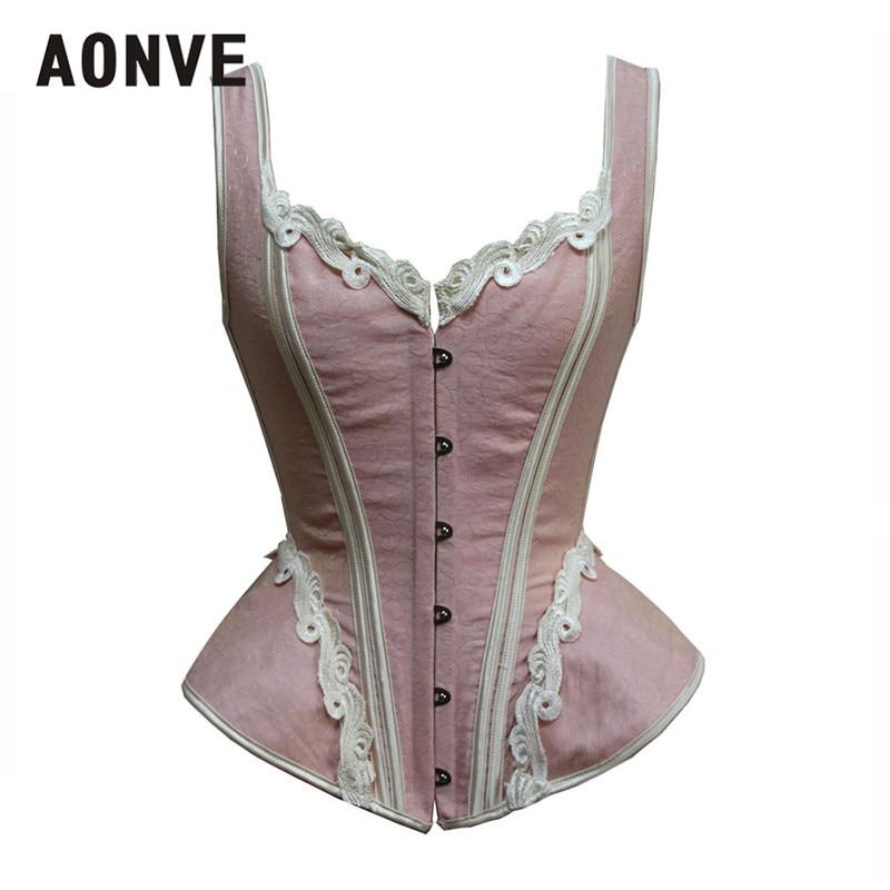Aonve Steam Punk   Bustier   Femme Pink   Corset   Royal Blue Vintage   Corset   Sexy Party Top Korse Women Lace   Corset   Grace Rave Clothes