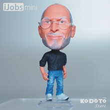 KODOTO Baby Toys World Famous People Apple Co-founder Steve P.(aul) Jobs Action Figure PVC ABS Doll Model Decoration