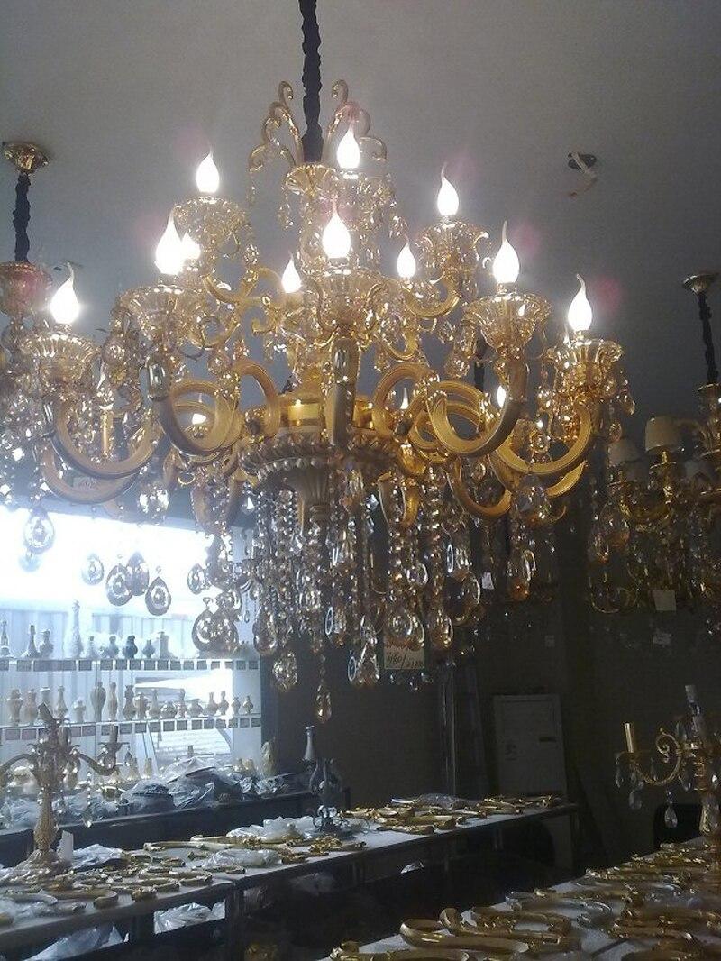 Современные латунный канделябр для гостиной кухня люстра дизайнер люстры подсвечник старинные промышленные люстра хрустальная синяя ламп...