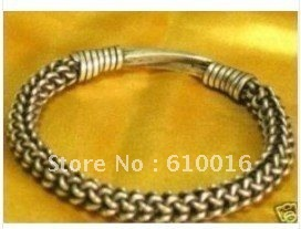 Free Shipping>>>>S01-25Z Chinese tibet tribal miao silver men's jewelry bracelet