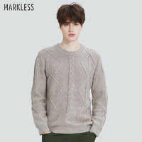 Markless Autumn Winter Christmas Sweater Men Brand Clothing Casual Thick Warm Knitted Sweater O Neck Men