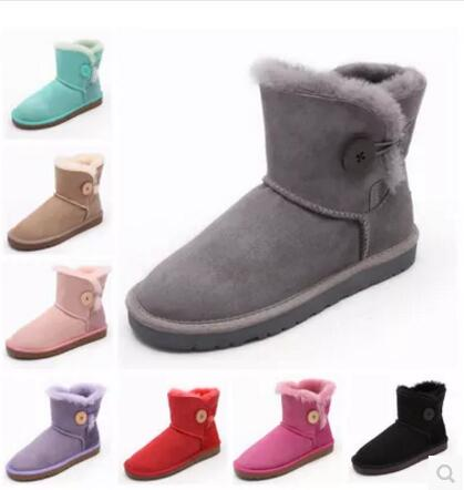 ФОТО Free shippingThe new snow boots Duantong classic waterproof cowhide genuine leather snow boots winter shoes for women