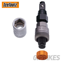 Icetoolz 04D2 Crank Extractor Contains 14x15mm sockets & 8mm hex key for crank bolt and crank arm removal Bicycle Repair Tools
